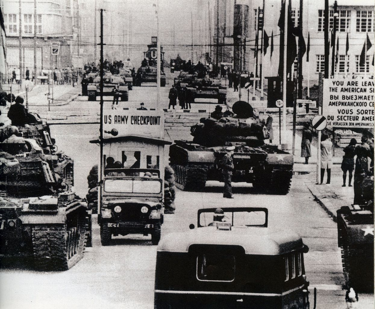 Standoff at Checkpoint Charlie.