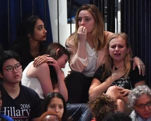 Hillary supporters weep